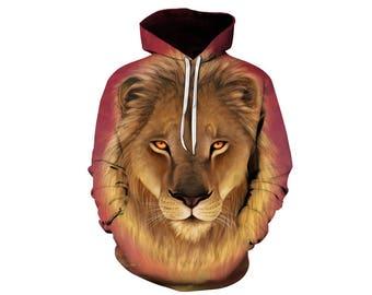 Lion Hoodie, Lion, Lion Hoodies, Animal Prints, Animal Hoodie, Animal Hoodies, Lions, Hoodie Lion, Hoodie, 3d Hoodie, 3d Hoodies - Style 24