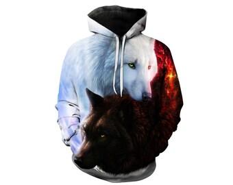 Wolf Hoodie, Wolf, Wolf Hoodies, Animal Prints, Animal Hoodie, Animal Hoodies, Wolves, Hoodie Wolf, Hoodie, 3d Hoodie, 3d Hoodies - Style 2