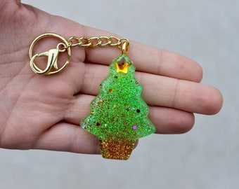 Resin Christmas Tree Keychain || Ornament || Cute || Perfect Gift ||