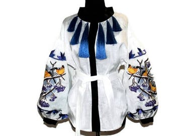 Ukrainian Embroidery Vyshyvanka Woman Bohemian Blouse Vishivanka Custom Boho Clothing Gift Mexican Embroidery Ethnic Folk Blouses