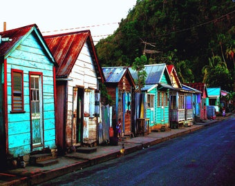 Ansley village in St.lucia