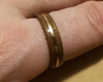 Walnut and Copper Ring