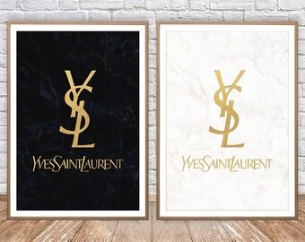 Yves Saint Laurent Print • YSL Poster Yves Saint Laurent Poster Art YSL Wall Art YSL Decor Ysl Logo Ysl Vintage Yves Saint Laurent Wall Art