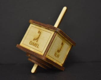 DIY Wooden Hanukkah Dreidel Kit