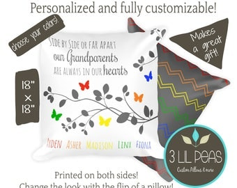 Personalized Grandparent Pillow, Gift from Grandchildren, Personalized Grandparents Gift, Custom Grandma Pillow, Custom Grandparents Gift