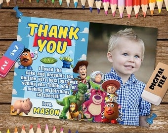 ON SALE 30% Toy Story Thank You Card. Toy Story Thank You Note. Toy Story Digital Thank You Card. Toy Story Printable. Toy Story Thank You.