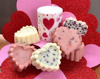 Valentines/ massage bar/ sensual gift/ moisturizing bar/ body massage/ rose petals