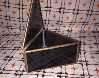 Jewellery Box Vintage Stained glass