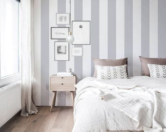 Light gray renters wallpaper removable self adhesive wall paper Bedroom easy wallpaper Easy wall covering peel and stick wall decal 120a