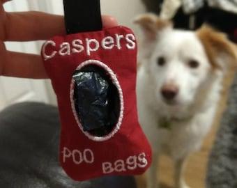 Personalised poo bag holder