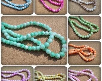 6mm Mottled glass beads, Mottled glass beads, Glass beads, Mottled beads, Round glass beads, 6mm Beads, Beads, Craft beads, Jewellery making