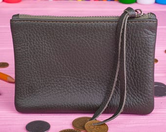Ladies wallet Gift for her Leather coin pouch Leather pencil case Coin wallet Coin purse Coin pouch Minimalist wallet Leather wallet