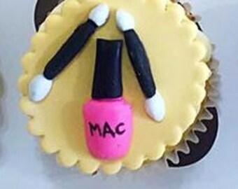 Mac fondant cupcake toppers