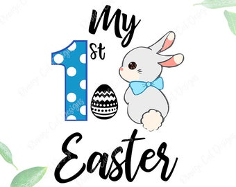My 1st easter Svg, My first easter svg, 1st easter Cutfile, Easter bunny svg, Clipart for Cricut- eps,png,svg,dxf files. Easter boy shirt