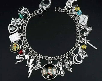 J.K Rowlings Hogwarts Harry Potter Loaded Charm Bracelet