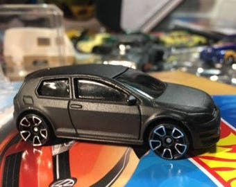 Custom Hot Wheels Volkswagen Golf Mk7 Flat Black