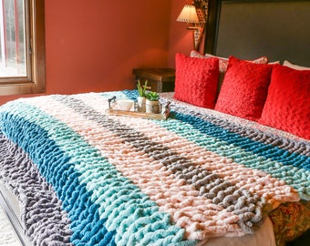 Large chenille throw
