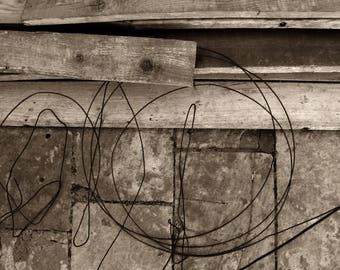 Black & White Fine Art Photograph / Abstract / photo of Dubrovnik