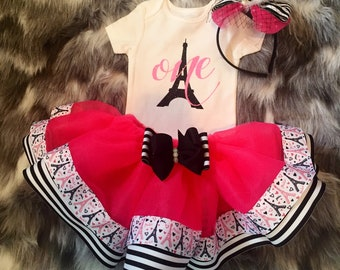 Free Shipping, First birthday outfit girl,Paris birthday outfit, Eiffel Tower birthday outfit, Baby Eiffel Tower shirt, paris shirt