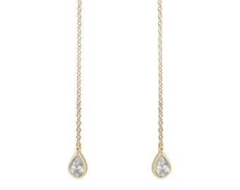 Topaz drop earrings vermeil