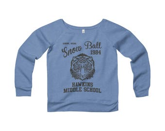 Stranger Things Shirt  Hawkins Middle School Snowball 1984 Sweatshirt
