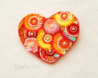 Happy heart Brooch