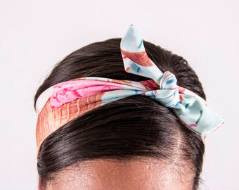 I Scream Tie-up Headband