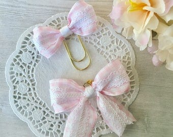 Planner bow clip or bow charm