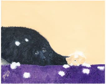 Giclee Limited Edition Fine Art Print from Original Acrylic Painting, Newfoundland Dog