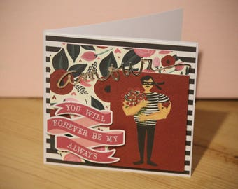Valentine's Day card - Thief of hearts