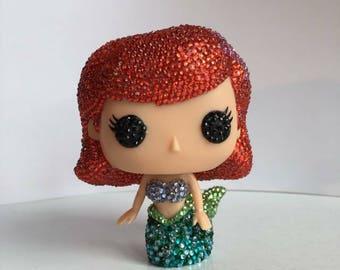 Custom rhinestone Funko pop Ariel