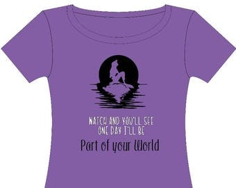 Part of your world tshirt