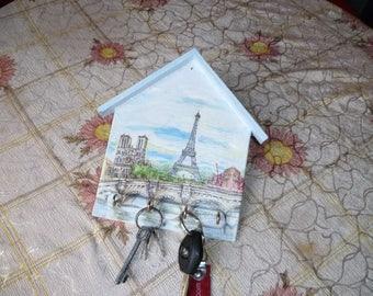 Eiffel tower wall key  holder
