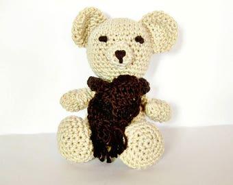 Crochet bear, Crochet teddy bear, Crochet amigurumi, Amigurumi bear, Amigurumi toy, Amigurumi animal, Crochet animal, Baby shower gift