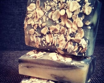 Honey Oat + Activated Charcoal: Natural Handmade Soap