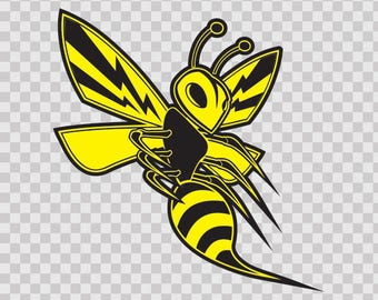 Stickers decal Bee, Hornet, Wasp, Vespa Fighter Sports 10022