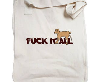 anGRRy dog Organic Cotton Tote Bag - Four Different Designs