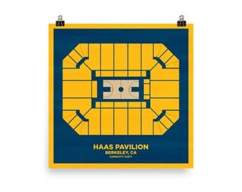 Haas Pavilion Wall Art - University of California Berkeley Golden Bears Basketball