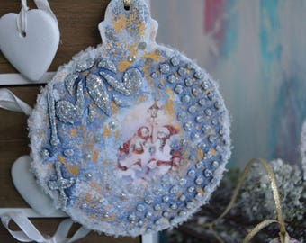 "Christmas ball. Dekoanhänger snow figures from the series ""Winter Fairytales"""