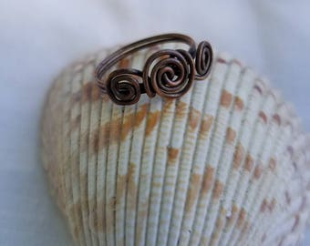 Copper Ring  Size 8 1/2