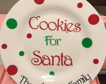 Cookies for Santa Dish - Personalized