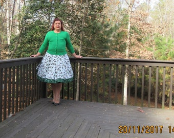 Pinecone Christmas skirt