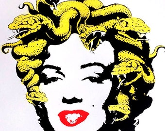 Marilyn Medusa Monroe Silk Screen Print