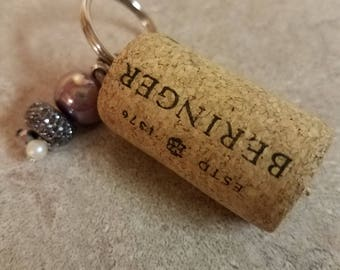 Wine Cork Key Chain #6