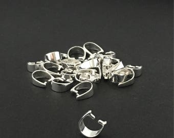 Sterling Silver Bail, Ice-Pick Bail, Plain Silver Bail, Sterling Silver Jewelry, Findings, Silver Findings