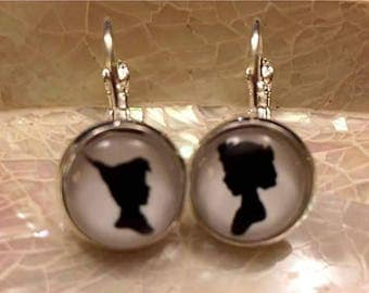 Peter Pan and Wendy Earrings