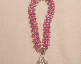 New kids 6mm Pearls Beads stretch bracelet with Shell