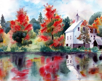 Autumn in New Hampshire Giclee