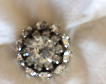 Vintage beautiful rhinestone button