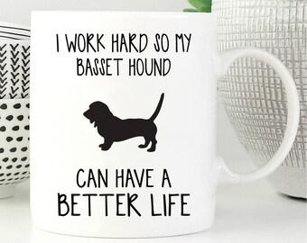 Basset Hound Mug, Basset Hound Gifts, Dog Mug, Coffee Mug, Dog Lover Gift, Funny Dog Mug, Mug, Funny Mug, Pet Mug, Dog Cup, Dog Coffee Mug